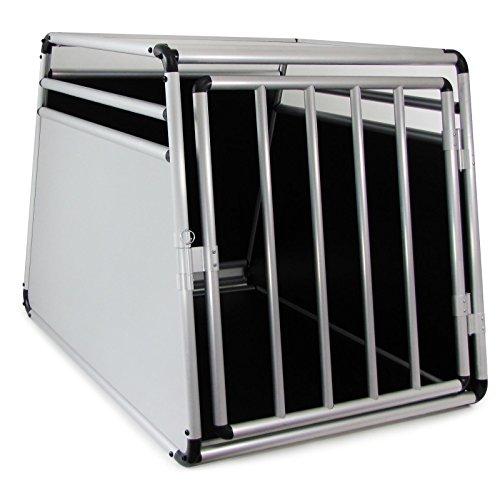 Carparts-Online 29955 Alu Hunde Tier Reise Auto Transport Box Rundstab 69x90x65cm