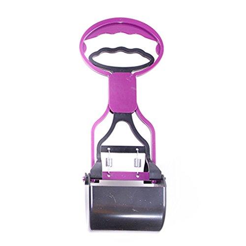 Befaith Poignée longue Poop Pick-up Clip Outil Scooper pour animaux de compagnie Chiens Chats violet 29*11cm