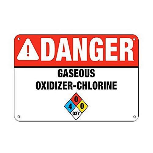 Warnschild Aufschrift Danger gaseous
