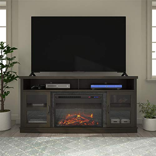 Ameriwood Home Ayden Park Fireplace TV Stand up to 65' in Espresso