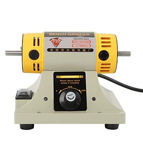 Máquina pulidora, enchufe de la UE 220V 350W Amoladora eléctrica Máquina pulidora Mini multifunción Buffer Mill Pulido para joyería Torno dental Motor