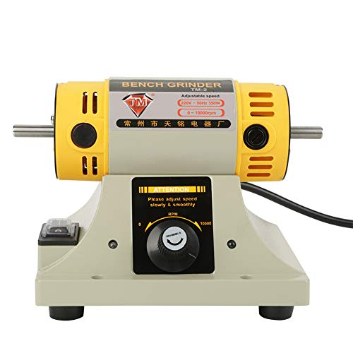 Máquina de pulido de torno, máquina de pulido de amoladora eléctrica duradera 0-10000r / min para joyería Motor de torno dental 220V 350W 16 x 13 x12.5cm para banco de trabajo