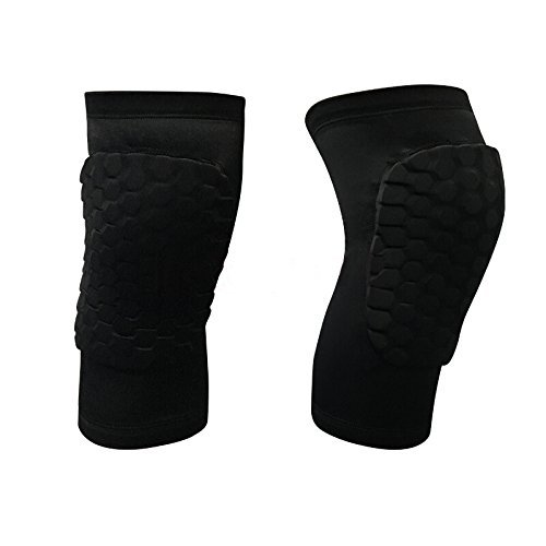 AceList 2 Packs (1 Pair) Protective Compression Wear - Men & Women Basketball Brace Support - Best to Immobilize, Strap & Wrap Knee for Volleyball, Football- Short Type - Black