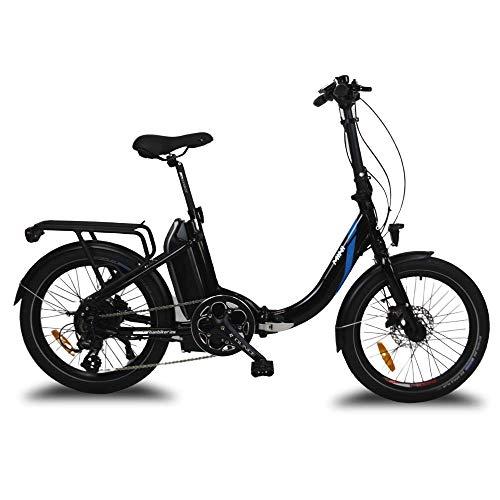 URBANBIKER - vélo électrique pliant MINI, Batterie Lithium Samsung 36 V 14 Ah (504 Wh) Moteur 250W, Freins hydrauliques Shimano, 20 Pouces, Blanc