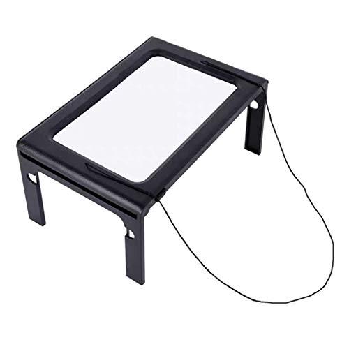 Bonarty Lupa de Manos Libres con Luz LED para Lectura de Libros, Punto de Cruz
