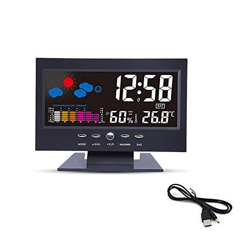 VLUNT HOME Estación Meteorológica Inalámbrica con Sensor Exterior, Relojes De Monitoreo del...