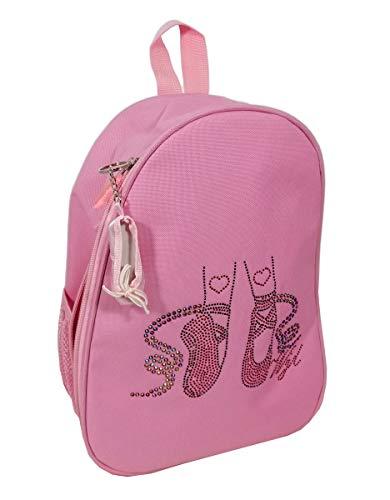 Avideso Ballettrucksack Mädchen Rosa + Ballettschuh Taschenanhänger - Helles Pink - Ballet Rucksack