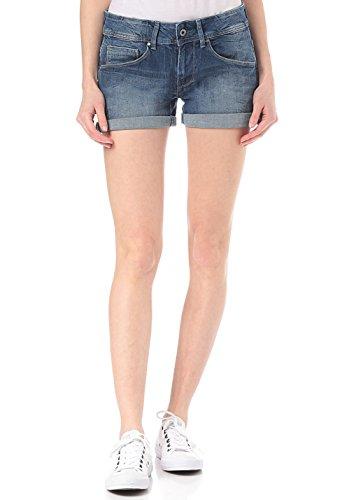 Pepe Jeans Siouxie PL800685 Short, Denim (Medium Used), 31 Femme