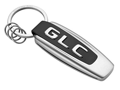 Mercedes-Benz Schlüsselanhänger Typo GLC Edelstahl schwarz/silber