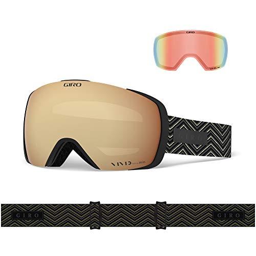 Giro Contact Masque de Ski pour Homme, Homme, Noir/Rouge, Taille Unique