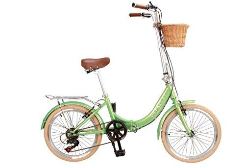 Da'FatCat Bicicleta Plegable de diseño 'Dorothy 1939', 6 velocidades Shimano, neumáticos Kenda 20