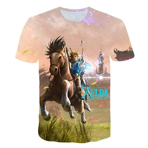 LIYIMING Legend of Zelda - Camiseta informal y moderna 3D para primavera...