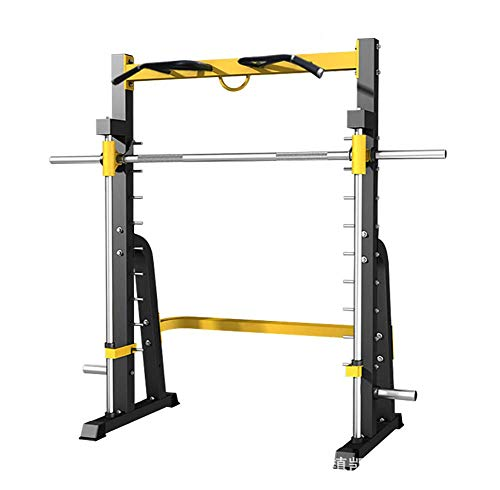 DSHUJC Household Half Power Fitness Pull-Up Rack Squat Rack Cage Weight Lifting Squat Rack Painted Cast Iron Craft