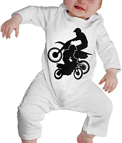WlQshop Mono para Bebé,Mameluco Bebé Unisex Motocross Dirt Bikes Baby Boy Girl Long Sleeve Infant Bodies