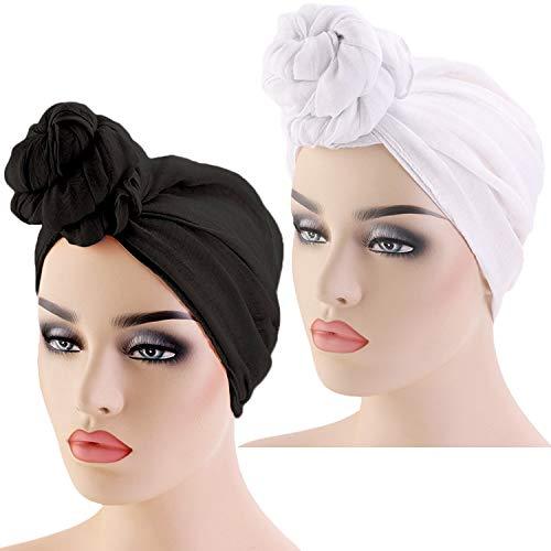 2 Pcs African Head Wrap for Women, Hijab Scarfs for Women Head Band Tie for Women Soft, Extra Long, Breathable, Lightweight
