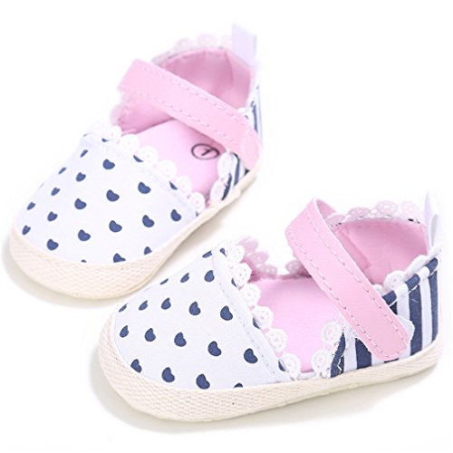 CoKate Baby Toddler Boy Girls Bow Knot Sandals First Walker Shoes (12cm 6~12Months, Love)