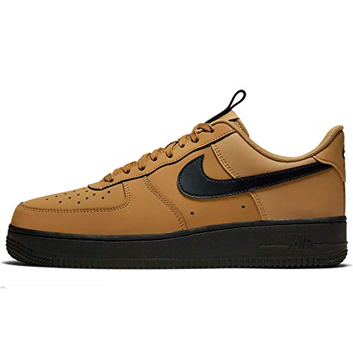 Price comparison product image Nike Men's Air Force 1 '07 Low Casual Shoes (9,  Wheat / Midnight Navy / Black)