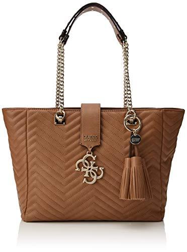 Guess Violet Carryall, Women's Shoulder Bag, Black (Tan), 31.5x26.5x13 centimeters (W x H x L)