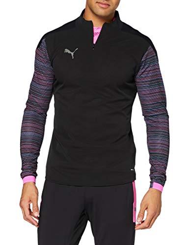 PUMA Ftblnxt 1/4 Zip Top Sudadera, Hombre, Puma Black/Luminous Pink, M