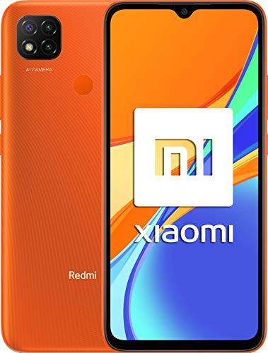 Xiaomi Redmi 9C Smartphone 3GB 64GB 6.53' HD+ Dot Drop display 5000mAh (typ) Desbloqueo facial con IA 13 MP AI Triple Cámara [versión en español] naranja