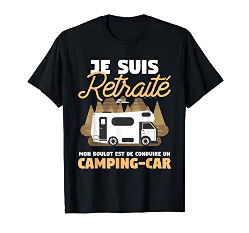 Homme cadeau de camping pour un retraité T-Shirt