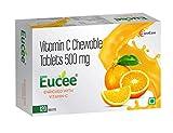 Eucee Vitamin C - Chewable Tablets in Tasty Orange Flavor -...