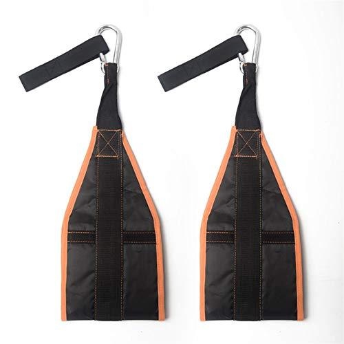 SZTUCCE AB Correas Colgantes Abdominal Cinturón Chin Encima se incorpora el Bar Pull-up for Trabajo Pesado Muscular del cinturón de Gimnasio en casa aparatos de Ejercicios (Color : Orange)