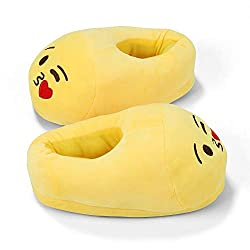 50%OFF Heasenbei House Slippers for Women and Mans Unisex Emoticons Slippers Plush Fluffy Cotton Slippers, Warm and Comfortable Cute House Shoes for Indoor or Outdoor Yellow