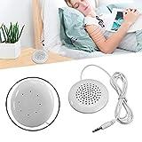 Feitb Mini tragbarer Kopfkissen 3,5-mm-Kissenlautsprecher Lautsprecher MP3-Player für iPod, MP3, MP4, Radio, CD - Player (Weiß)
