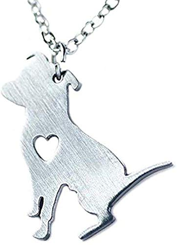 Yaoliangliang Collar Collar de Pitbull de Acero Inoxidable Cadenas de Perro Pitbull Colgante de Cadena Simple Animal Mascotas Cachorro