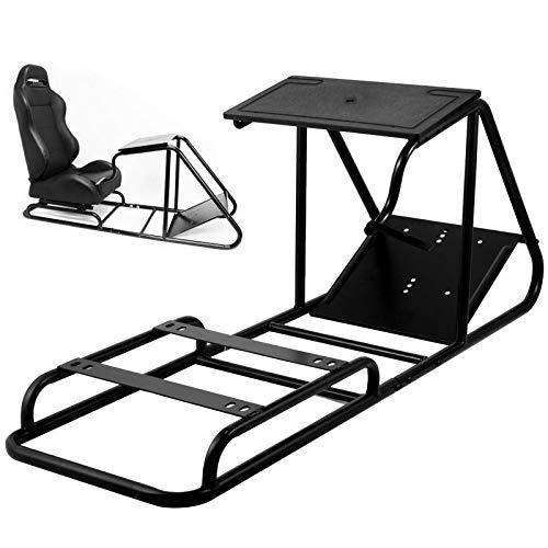 VEVOR Soporte para Volante Asiento para Simulación de Conducción Racing Simulator Simulador de Conduccion PS4 Completo Simulador Cabina Playseat PS2 PS3 PS4 XBOX XBOX 360 PC MAC G29 G920 (Sin Asiento)