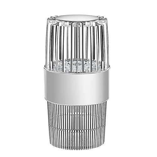 Lámpara Matadora De Mosquitos, Lámpara De Luz UV Anti-Mata Insectos, Fotocatalizador Eléctrico Silencioso USB, Trampa De Insectos, Trampa De Insectos, Luz LED, Matador De Mosquitos para (White)