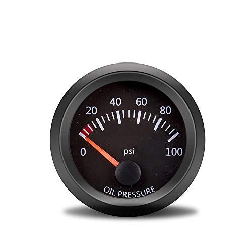 """no-branded Kraftstoffanzeige Wagen Spur 2"""" 52mm 12V Wassertemperatur Öltemperatur Ölpresse Kraftstoff Volt Spur Luft-Kraftstoff-Verhältnis-Boost-Exhaust Temp Fahrzeug Meter Schwarz Shell CGFEUR"""