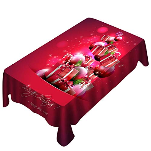 MEIDI Home AmaSells Christmas Nappe Rectangle Table Cover Holiday Party Décoration, Nappe Motif, Décor De Table De Noël, Fournitures De Fête (Multicolore C) (Color : Multicolor D)