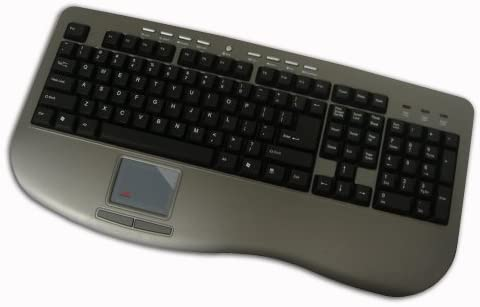 Adesso Win-Touch Pro USB Keyboard with Wristsaver (AKB-430UG),Gray