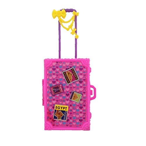 Viajes Mini caja de plástico rosada del juguete 3d maleta del equipaje...