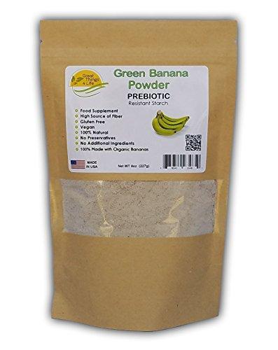 Green Banana Flour - Prebiotic - Gluten Free - Fresh Made in the USA, 8oz