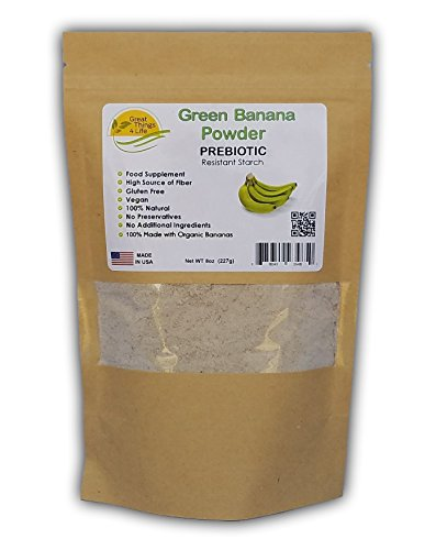 Green Banana Flour - Prebiotic - Gluten Free - Fresh Made in the USA, 8oz