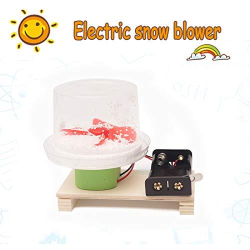 DLMPT Wissenschaft Physikalische Experiment Kits Elektrische Schneefräse Erfindung kreative Elektromotor Spielzeug wissenschaftliche experimentelle Modell für Kinder