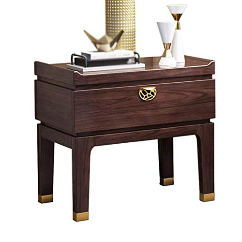 Chinese-style bedside cabinets and red oak storage cabinets, bedside storage cabinets are strong and durable, living room coffee table, multi-function coffee table with drawers,offices and dormitori