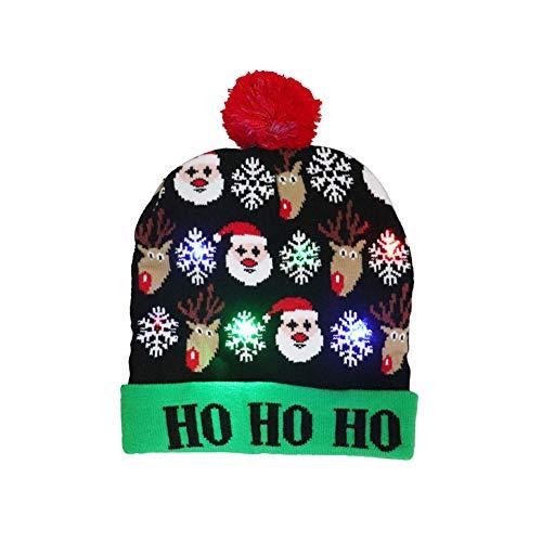 Allsunny Sombrero De Navidad Sombrero De Punto De