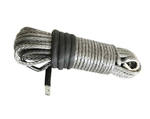 lxxiulirzeu Accesorios cabestrante 10mm * 30m Gris sintético Torno de Cable, ATV Torno de...