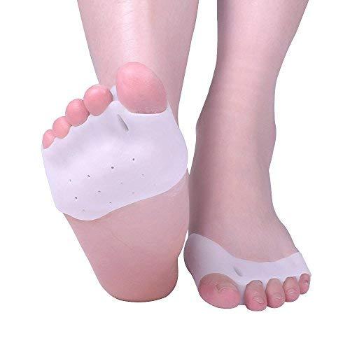 Almohadillas separadoras de gel para dedos de los pies, de silicona, para aliviar el dolor en el metatarso y el dolor de juanetes, talla única.