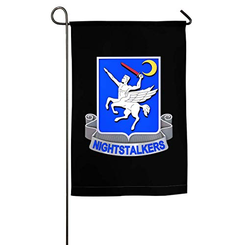 nluhao 160th Special Operations Aviation Regiment (Airborne) Family Single-Sided Decorative Garden Flag Banner for Yard Home 12 X 18 Inch,18 X 27 Inch Black