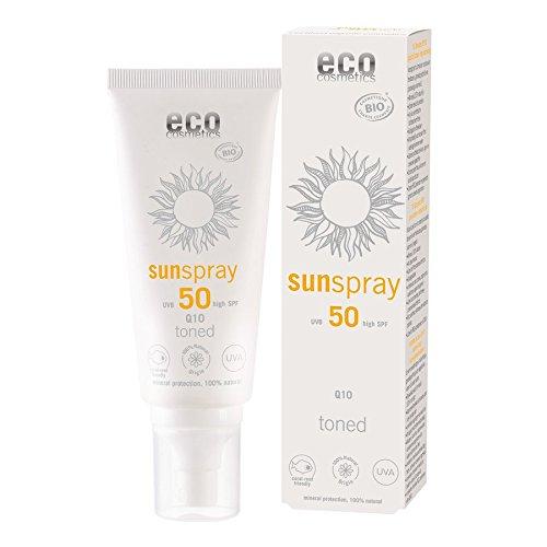 eco cosmetics Sonnenspray SPF 50 Q10 getönt