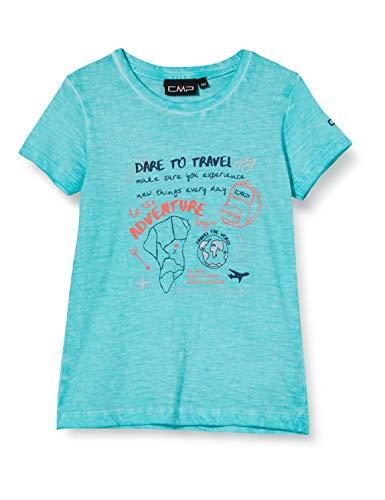 C.P.M. T-Shirt Jersey 100% Cotone T-shirt, Bambina, Giada, 116