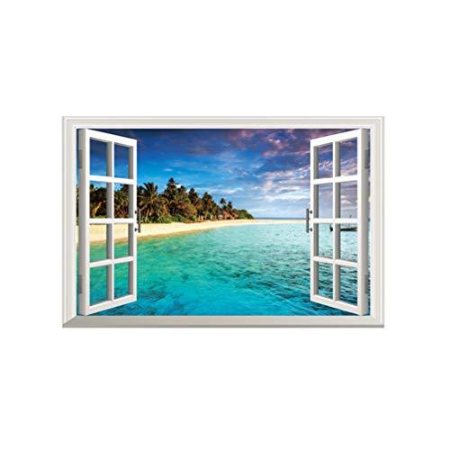 Vosarea Etiqueta pared ventana falsa 3d calcomanías