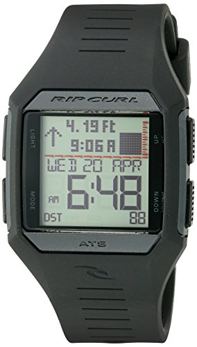 Rip Curl Men's 'Rifles Midsize Tide' Quartz Plastic and Polyurethane Sport Watch, Color:Black (Model: A1124-BLK)