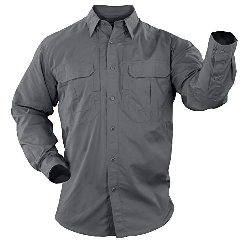 5.11 Tactical Series Taclite Pro Shirt Long Sleeve Chemise Homme, Storm, FR : S (Taille Fabricant : S)
