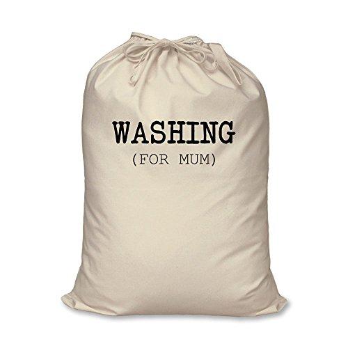 Wäschesack für Mama, 100 % natürliche Baumwolle, Aufbewahrungskorb